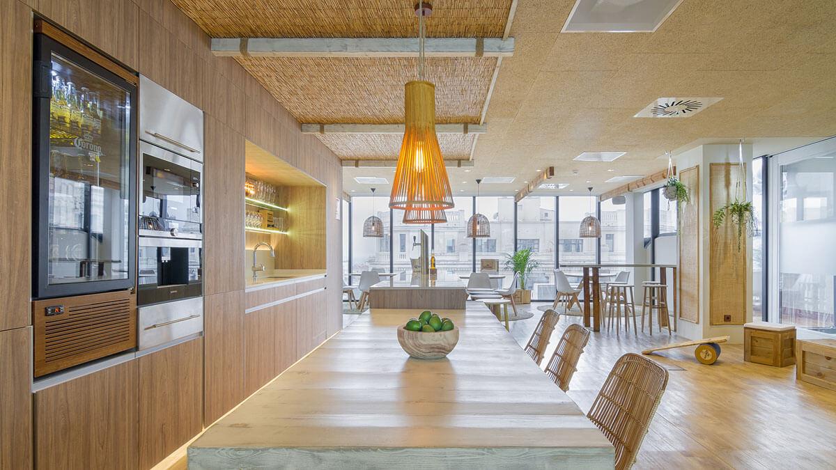 Cocina oficinas multinacional tienda de muebles de cocina madrid