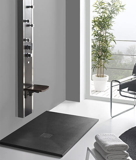 Baño con ducha moderna - muebles de baño
