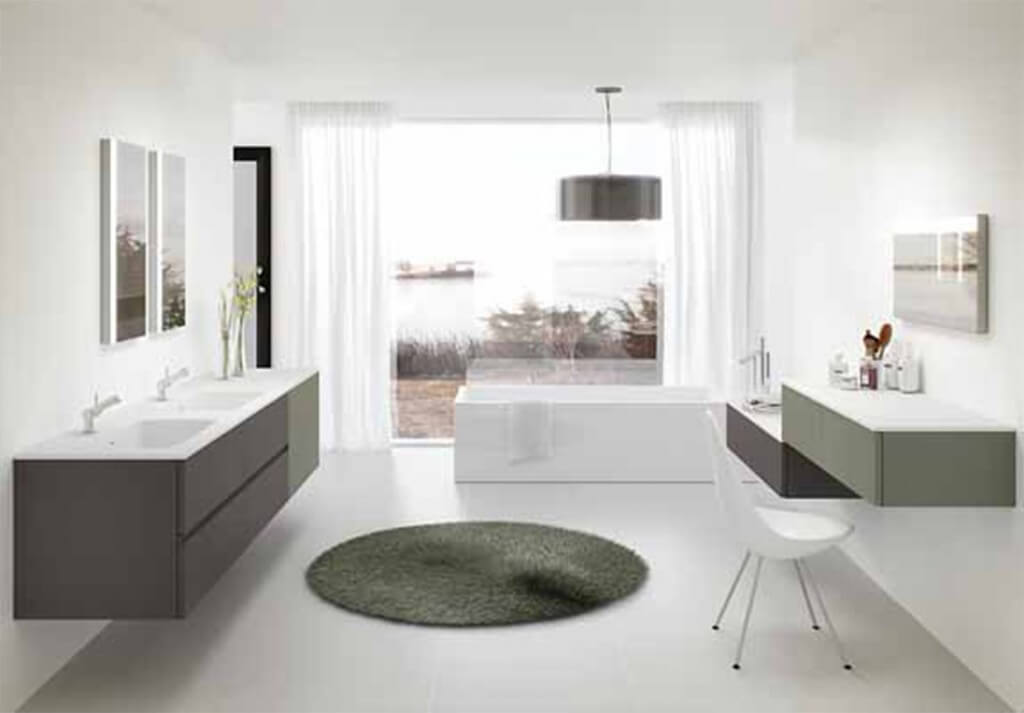 Baños de diseño con dos lavabos – decoración de baños de diseño