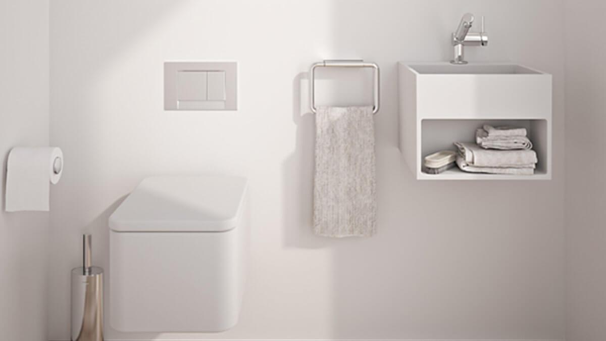 Baño blanco completo - muebles de baño