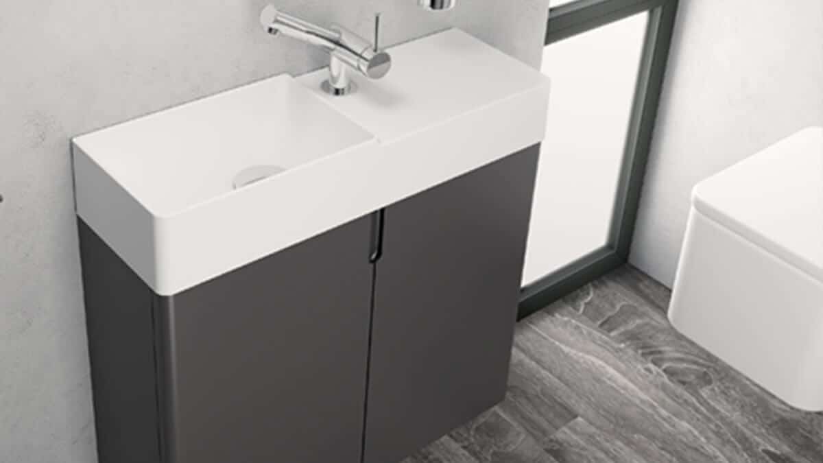 Baño con lavabo pequeño - muebles de baño