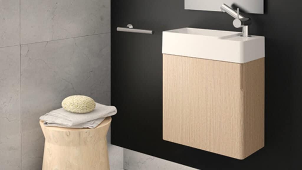 Baño con lavabo moderno - decoración baños pequeños