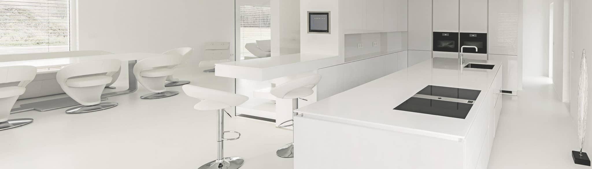 Cocina de diseño blanca - muebles de cocina en madrid