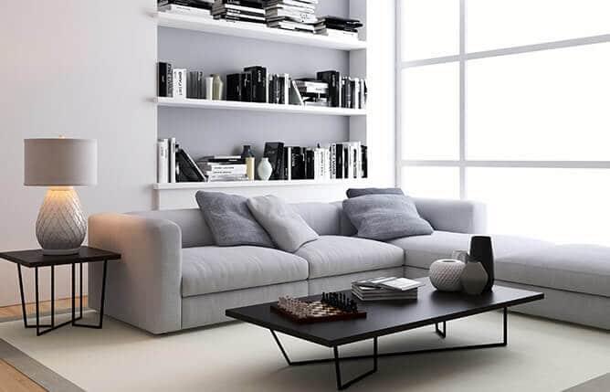 Salón con estantería Madrid - muebles de hogar en Madrid