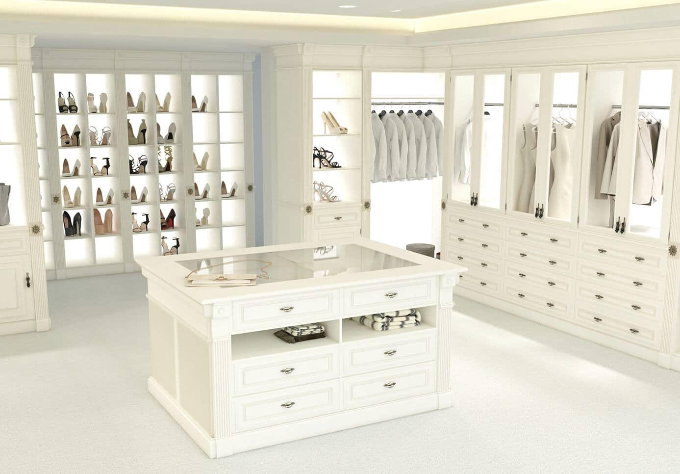 Vestidor blanco mujer de ensueño - muebles de hogar