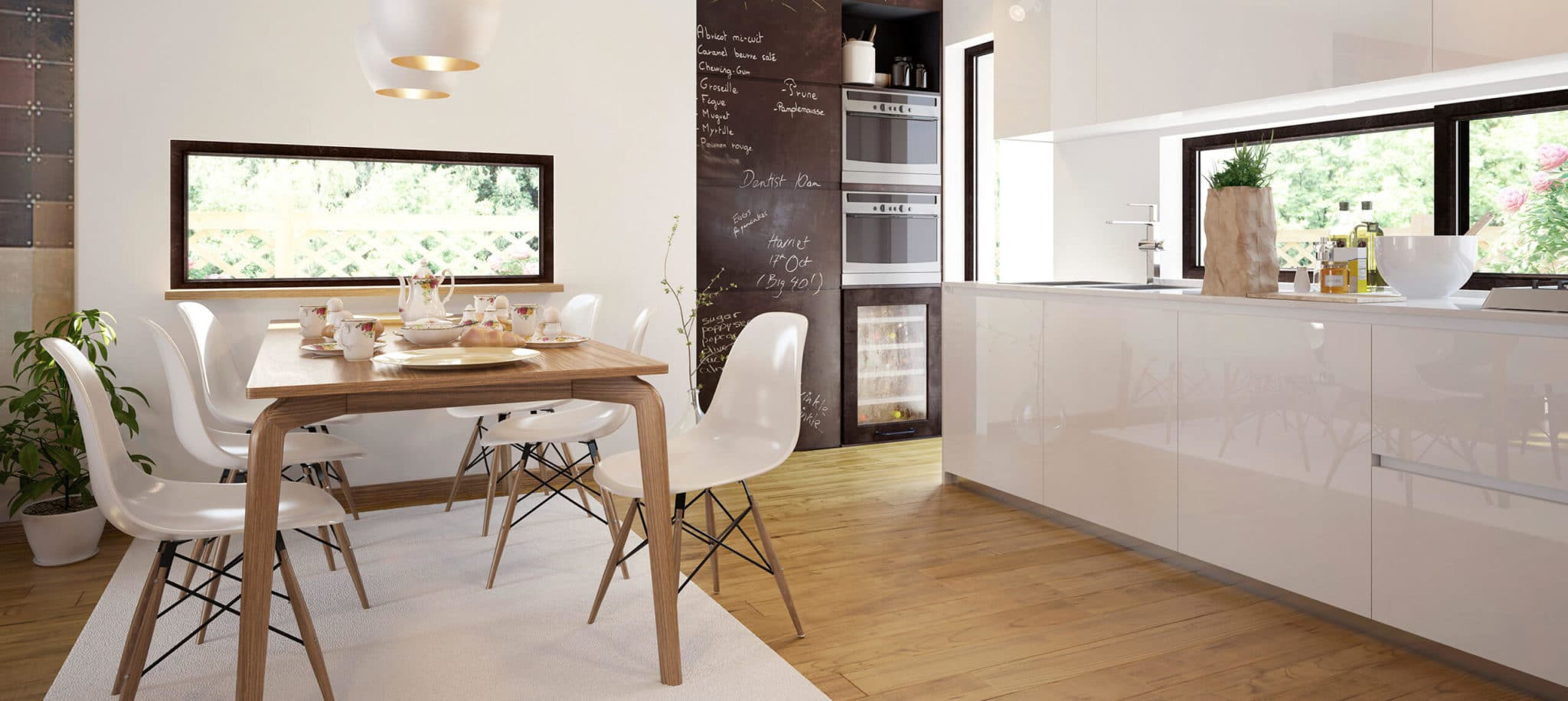 Cocina americana blanca - muebles de cocina en madrid