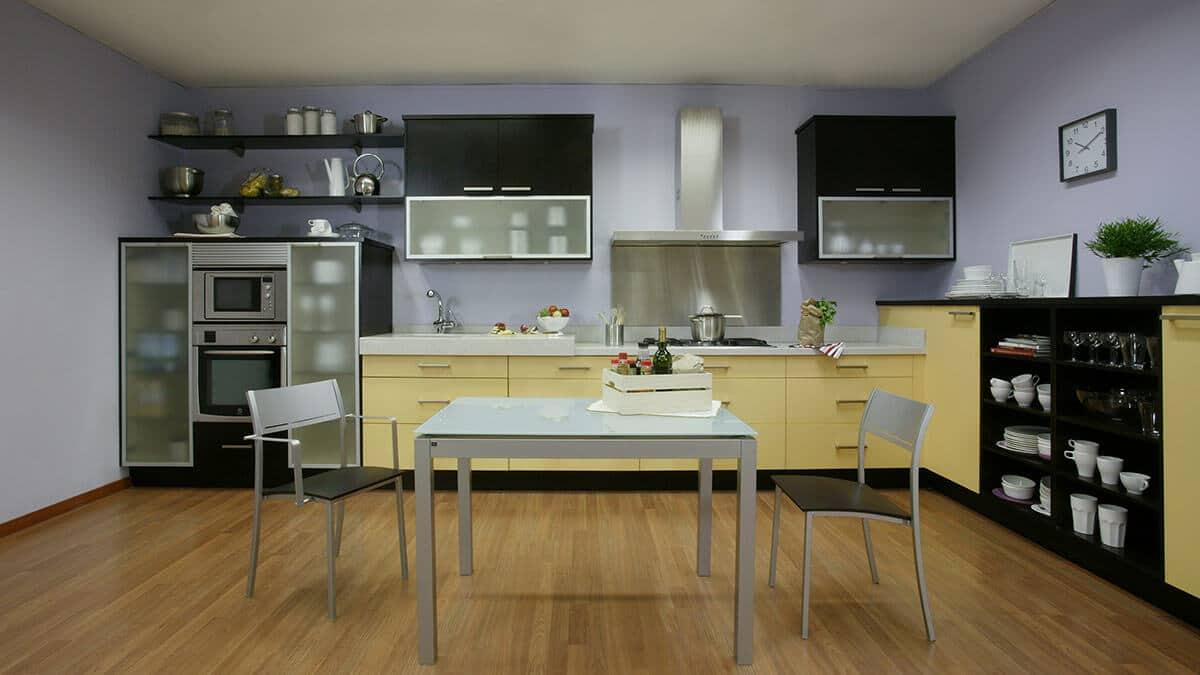 Cocina amplia con mesa Serie Bremen - muebles de cocina en Madrid
