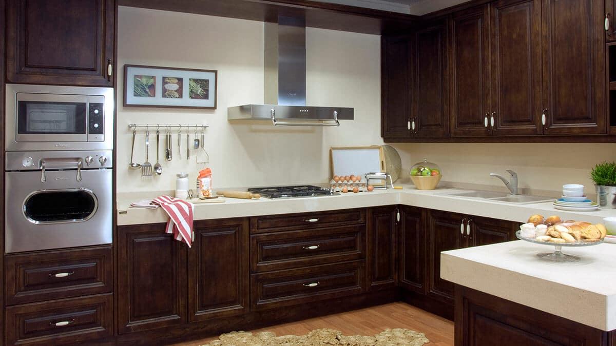 Cocina clásica madera Serie Stuttgart - muebles de cocina en Madrid