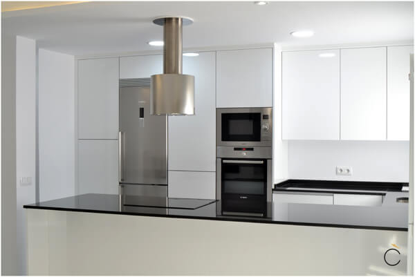 Campanas De Cocina Modernas | Cocinas Blancas Cocina Blanca Cocina Blanca Con Pennsula