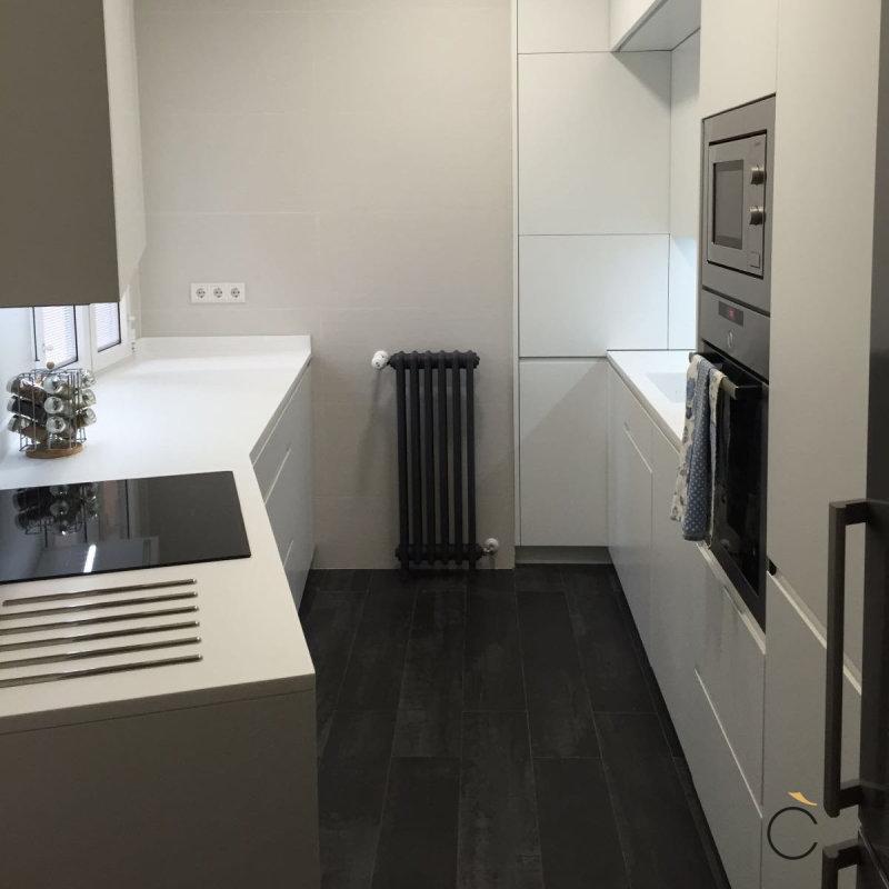 Cocina blanca a medida - cocinas blancas modernas