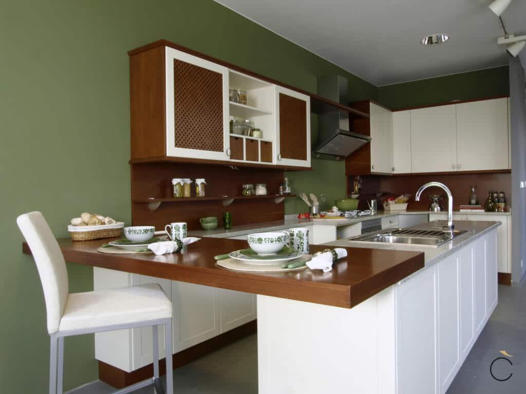 Cocina rústica moderna de color claro - cocinas rústicas modernas