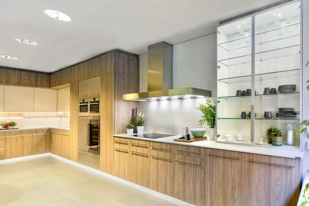 Cocina iluminada - iluminacion cocina