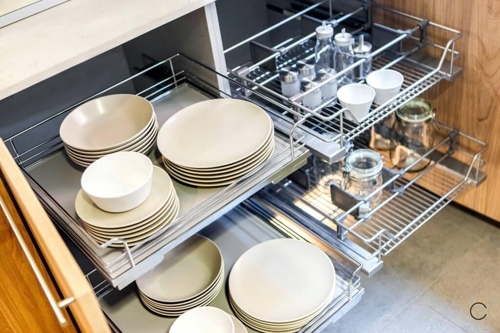 Cajones modernos Coeco gran espacio para almacenar - cocinas modernas