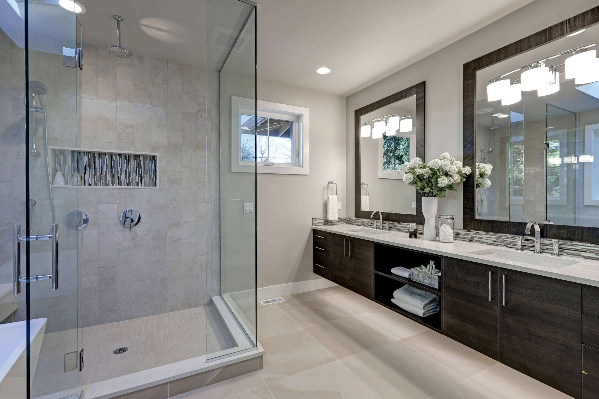 Baño de diseño con ducha